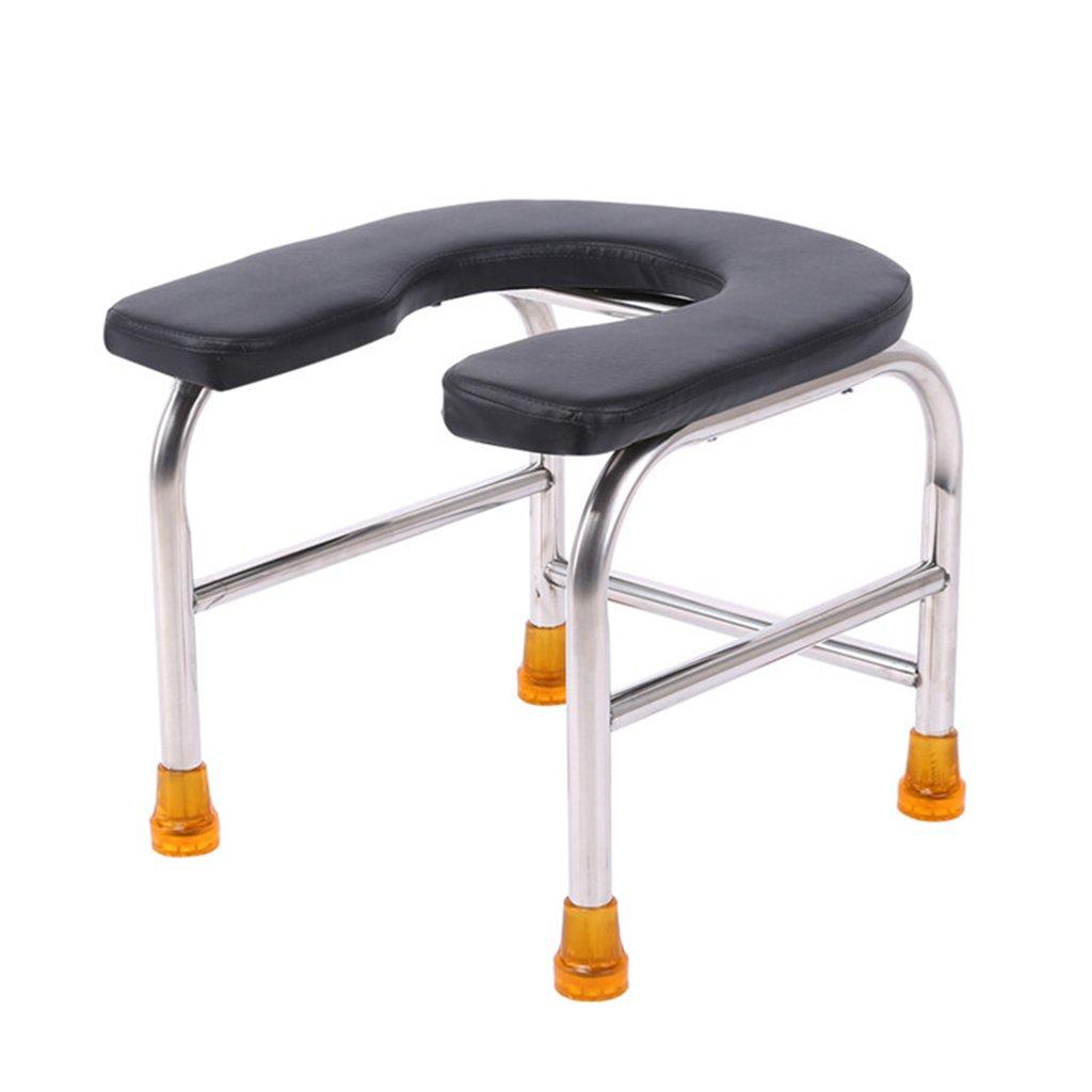 椅子の椅子妊娠中の女性のためのステンレス鋼の便座老人のためのトイレ便座トイレ便器黒 (サイズ さいず : 32センチメートル) B07CXNN2TD   32センチメートル