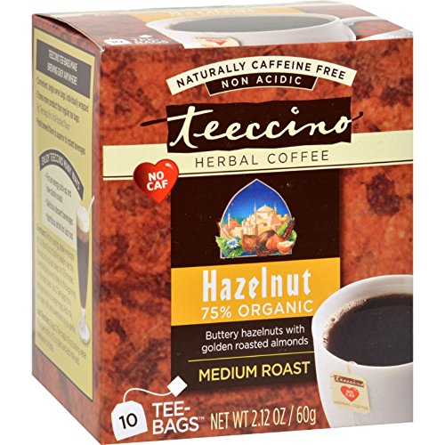 Teeccino - Teeccino Herbal Coffee Hazelnut - 10 Tea Bags - Case of 6 -
