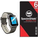 Spectre Shield Pebble Time Steel Screen Protector (6-Pack) Accessory Screen Protector for Pebble Time Steel Case Friendly Full Coverage Clear Film