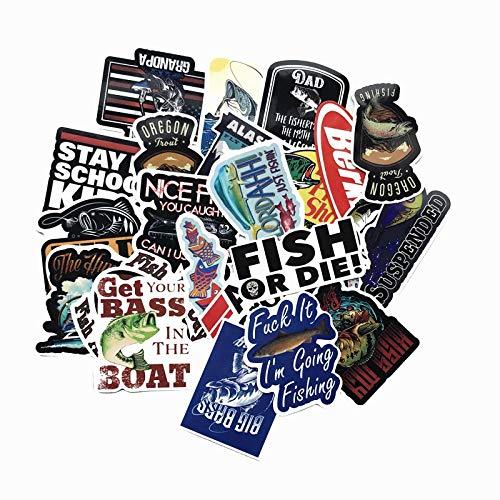 50 Pz//Lotto Divertente Pesca Slogen Marca Adesivi per La Barca da Pesca Tackle Box Strumento Auto Sedia Impermeabile Graffiti Decal