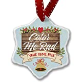 Add Your Own Custom Name, Painted Wood Color Me Rad Christmas Ornament NEONBLOND offers