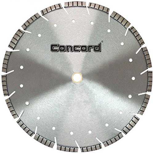 Industrial Diamond Saw Blade - Concord Blades LDST200C10HP 20 Inch Multi-Purpose Laser Welded Drop Segmented Turbo Diamond Blade