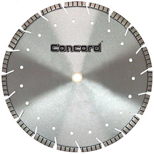 Concord Blades LDST160C10HP 16 Inch Multi-Purpose Laser Welded Drop Segmented Turbo Diamond - Off Gas Saw Blade Cut