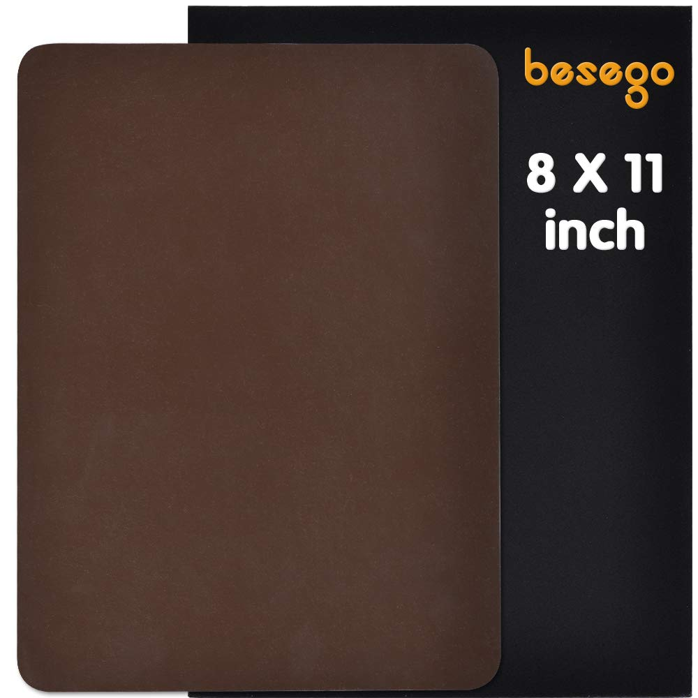 Besego Leather Repair Patch, Leather Adhesive Kit for Sofas, Drivers Seat, Couch, Handbags, Jackets - 8× 11inch(Black)