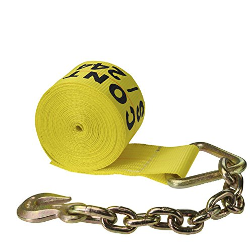 4'' X 30' Ratchet Strap with Chain Extensions & Clevis Grab Hooks