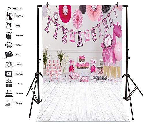 leyiyi 6 x 9ft写真バックドロップモダン部屋デザイン女の子ベビーシャワー背景ユニコーンBallonバナーice-creamsケーキChampaignフォトPortraitビニールビデオStudio Prop   B07DWQP3H7