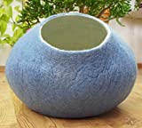 Cat House, Bed, Cave. Handmade. Ecological Sheep Wool. Color Sky Blue. Size L Large (10-17 pounds) cat.