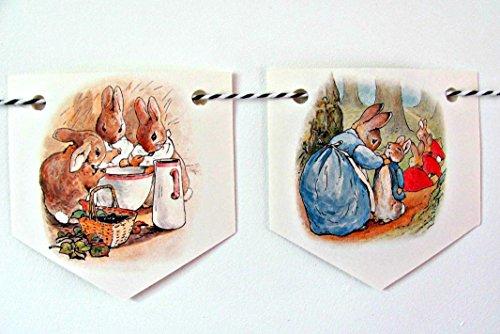 Beatrix Potter Peter Rabbit nursery paper bunting