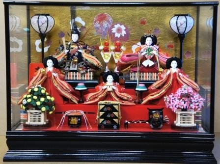 人形本舗 雛人形 ひな人形 三五親王五人黒塗りケース飾りー1   B01HLSDRGW
