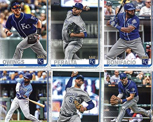 2019 Topps Series 2 Baseball Kansas City Royals Team Set of 9 Cards: Tim Hill(#379), Jorge Bonifacio(#427), Wily Peralta(#463), Chris Owings(#548), Kauffman Stadium(#609), Brian Goodwin(#640), Jorge Lopez(#651), Cam Gallagher(#666), Hunter -