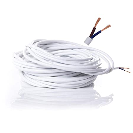 Cool Electrical Wire 2 Core Flat White Pvc Mains Electrical Cable Wiring Database Gramgelartorg