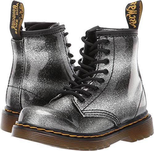 Dr. Martens Kids 1460 Ombre Glitter T Black/Silver Boot - 6 UK Toddler -