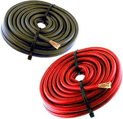 6FT 8 Gauge Primary Speaker Wire Amp Power Ground Car Audio 3/' Red 3/' Black
