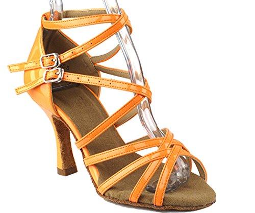 Scarpe Molto Fini Serie Salsera Sera5008 3 scarpe Da Ballo Tacco Arancio Fluorescente