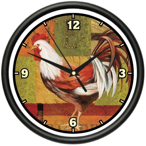 ROOSTER 1 Wall Clock farmer kitchen french home decor