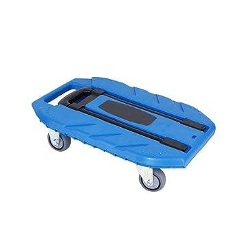 QIANGGAO Remolque pequeño de 4 Ruedas portátil, Capacidad 400 KG Camión de Plataforma Plegable de