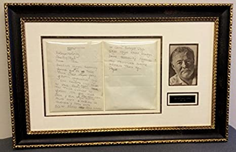 Amazon.com: Ernest Hemingway Original Handwritten Letter Signed ...