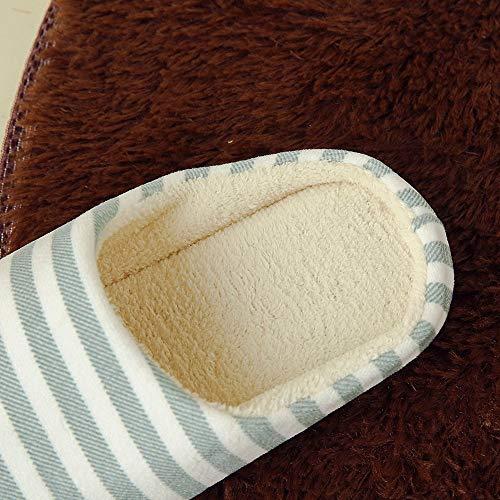Mule Confortable Homme Hiver Coton Pantoufles Chaussures Femme Maison Antidérapant Chaussons Plates Chaud La Green Manadlian gw8xY7