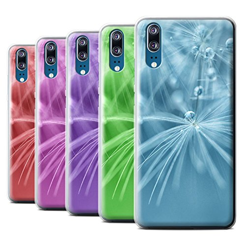 STUFF4 Phone Case/Cover for Huawei P20/Pack (6 pk)/Floral Fairy Drops (Pattern Plastic Hardback Cover)