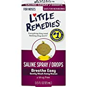Little Remedies Saline Spray/Drops | 0.5 oz | Pack of 1 | For Noses to Breathe Easily | Gently Wash Away Mucus | Newborn Safe