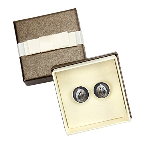 Lhasa Apso Dog Photo (Lhasa Apso, Cufflinks for dog lovers, Photo-Jewelry, Jewelry for Men, Handmade, Box)
