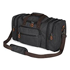 Canvas Travel Duffle Bag: CLASSICAL DESIGN, MULTIPLE USES! Are you looking for a duffel bag that is stylishly designed to suit any situation without compromising on strength and functionality?If so, the Plambag Canvas Travel Bag is the perfec...