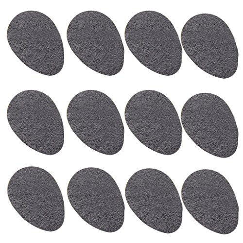 12 Pairs Anti-slip Shoe Grips Shoe Pads - High-heeled Shoe Pads Protector Sticker Rubber High-heeled Non-slip Grip Cushion Sticker -