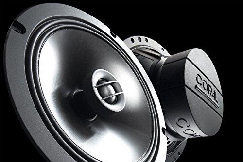 CORAL MC 165 - Altavoz coaxial bidireccional, 160 W má ximo poder, color negro 160 W máximo poder