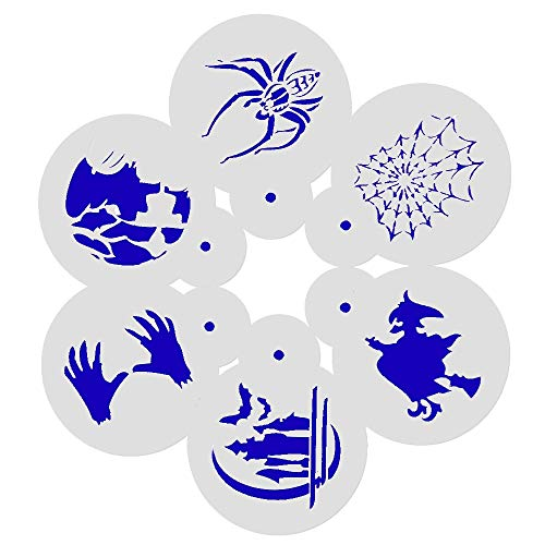 1 lot Facemile 6PCS Halloween Spider Witch Stencil Cookie Stencil Cartoon Stencil Mold Fondant Cake Decorating Tool Cupcake Stencil