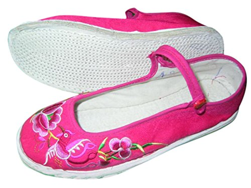 Main Chaussures Ballerines Ethniques Fait Interact Chinoises 133 Espadrille 100 Femme China qt1wWpwI