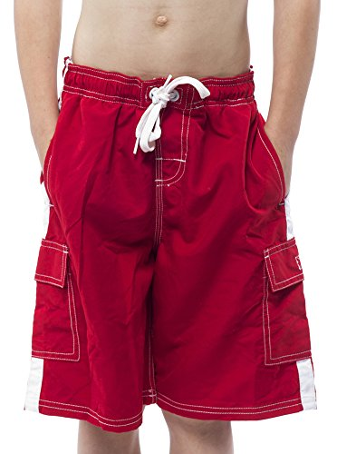 NORTY Swim - Big Boys Swim Suit, Red 40368-18/20 ()