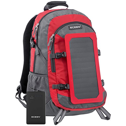 ECEEN Solar Bag, Solar Charger Backpack With 7 Watts Solar Panel for iPhone, iPad, iPod, Samsung Galaxy Series Phones and Tablets, Other Android Phones and Smartphones, etc.