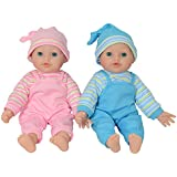 "The New York Doll Collection 12"" Twin Baby Doll Girls Made of Vinyl for Small Children (12"" Caucasian)"