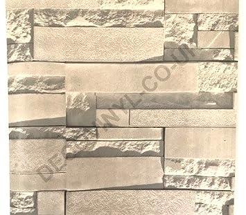Deco Vinyl Rouleau De Papier Peint En Pvc Vinyle Briques Blanc