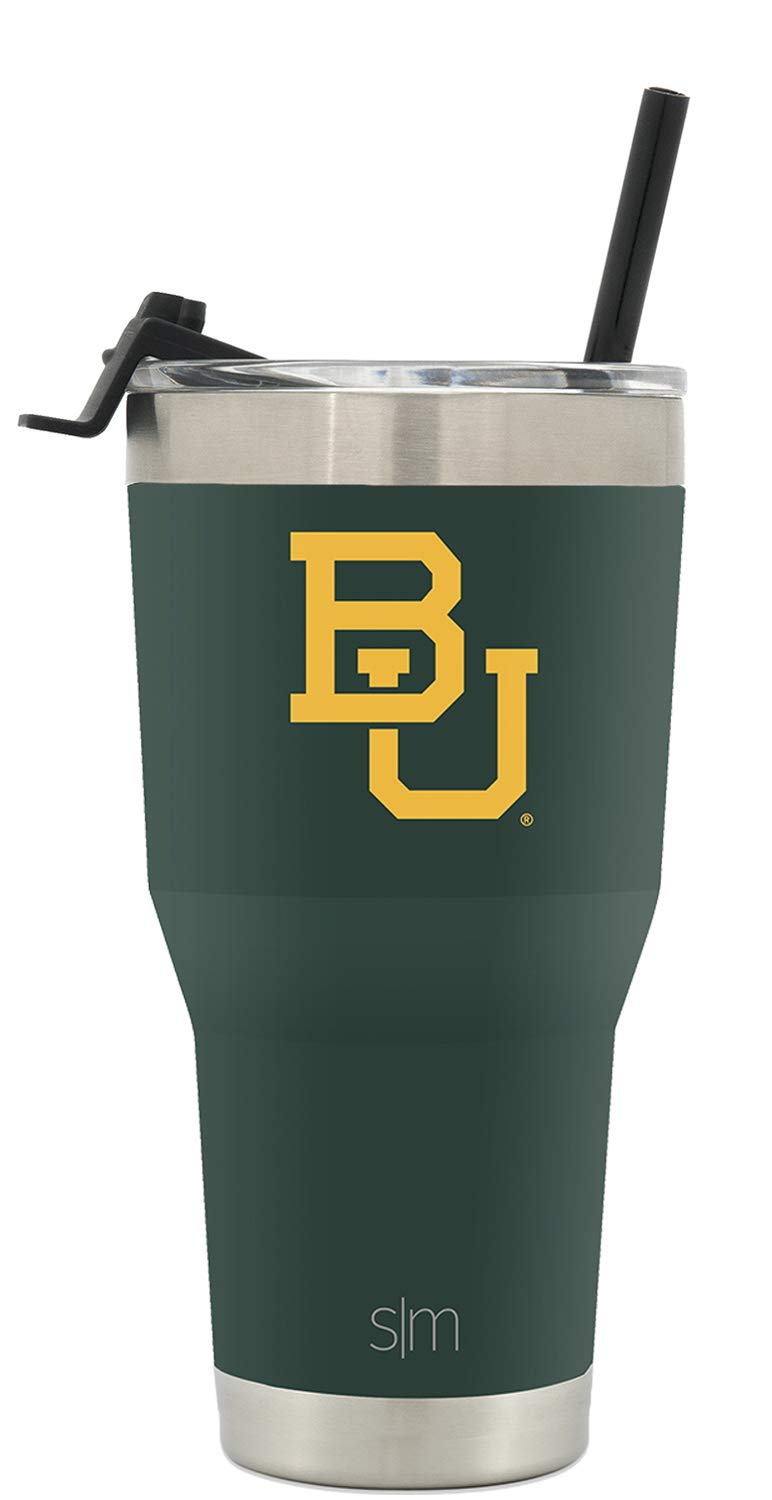 Simple Modern Baylor University 30oz Cruiser Tumbler with Straw & Flip Lid - Vacuum Insulated Stainless Steel Travel Mug - Tailgating Cup College Flask