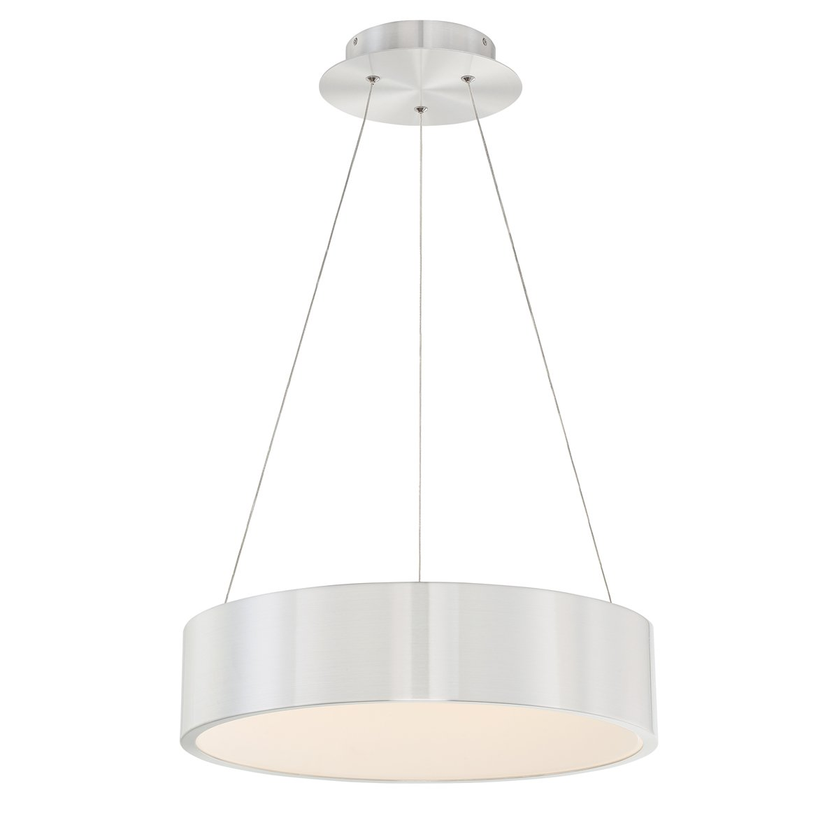 WAC Lighting PD-33718-AL Corso 18in LED Pendant, 18 Inches, Brushed Aluminum