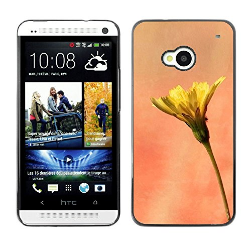 Soft Silicone Rubber Case Hard Cover Protective Accessory Compatible with HTC ONE M7 2013 - Plant Nature Forrest Flower 11