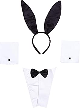 LUOEM Bunny Costume Accessories Set Orejas de Conejo Cinta de ...