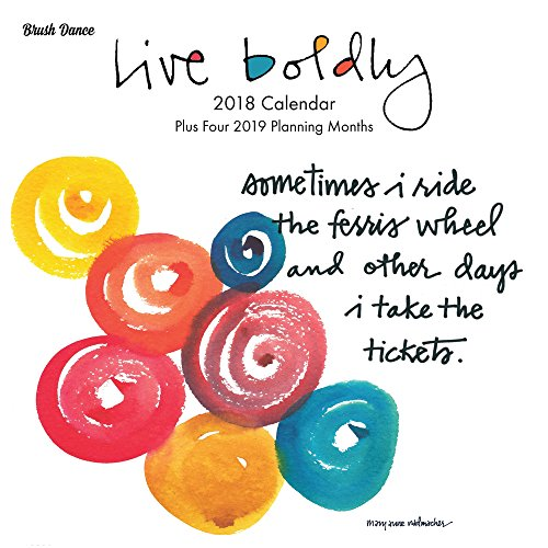 Live Boldly 2018 Wall Calendar (November Monthly Idea Book)