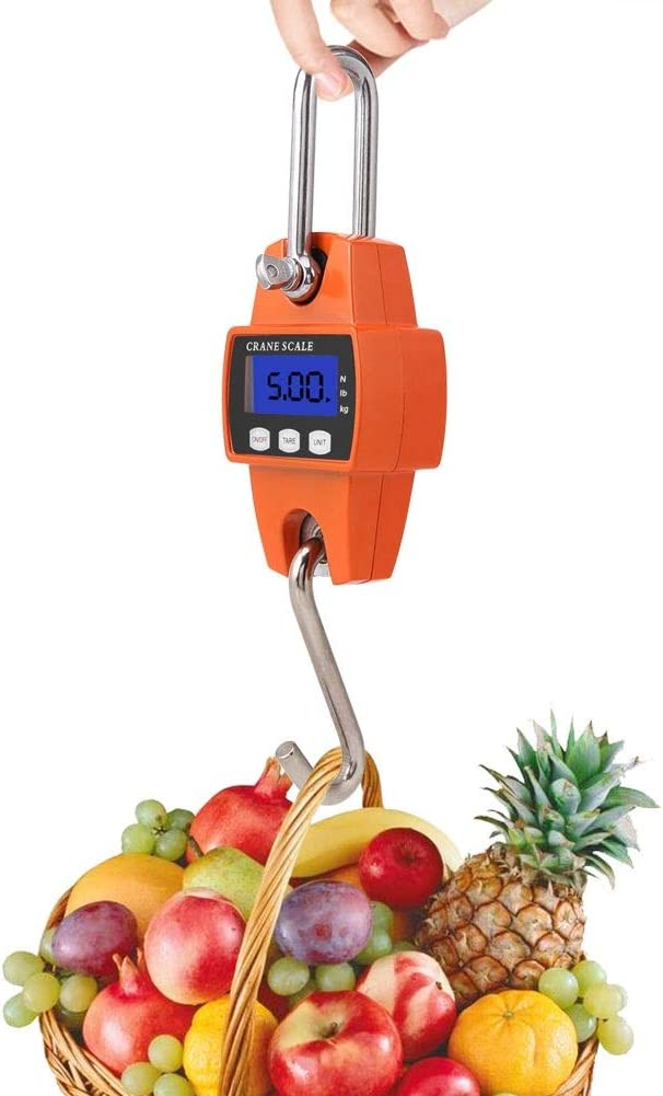 Tragbarer LCD-Digital-elektronische Mini h/ängend Gewichtung Skala 300kg mit Haken Haken Scale