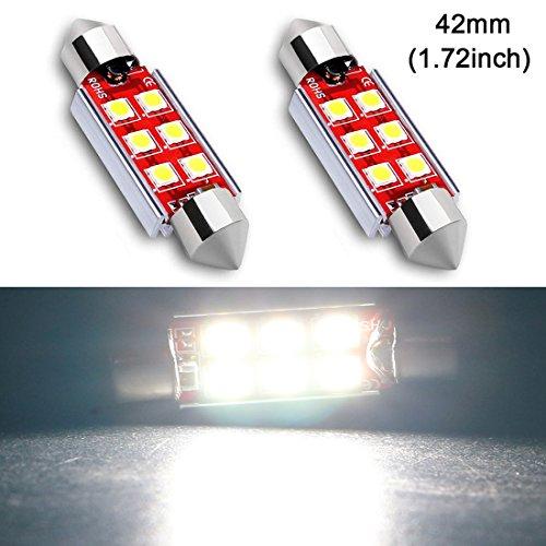 Shangyuan 42MM(1.72'') Marine LED Bulb Replacement Festoon Bulbs for Navigation Light Stern Light Boat Anchor Light Masthead Light Bow Light 750 Lumens Extremely Bright White DC12v-24v (pack of 2) ()