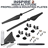 eDigitalUSA Part 11 High Altitude (2500-5000m) Quick Release Propellers w/ High Altitude Propeller Mounting Plates for DJI Inspire 2 Quadcopter + Stylus Pen and more....