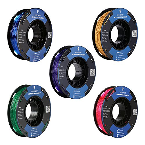 SainSmart 5 Colors Flexible TPU 3D Printing Filament, 1.75 mm, 250g, Dimensional Accuracy +/- 0.05 mm