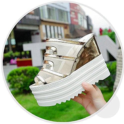 Sparkly Breathable Platform Slippers Mouth Antiskid Ladies Waterproof Sandals Bling T Summer Womens Wedge Purple Slides JULY Fish RwXCqCO