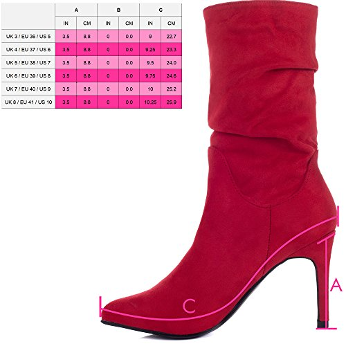 High Style Ankle Shoes Women's Boots Red Stiletto Spylovebuy Fruit Heel Forbidden Suede qnYx6wPt8