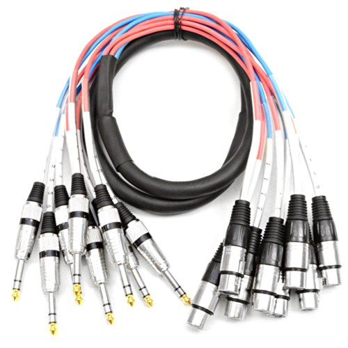 Seismic Audio - SAXT-8x5F - 8 Channel 5 XLR Female to 1/4 TRS Snake Cable
