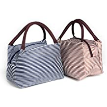 Lunch Bag - Mini Diaper Bag - 2PCS Portable Lunch Tote Handbag For Women/Kids/Student