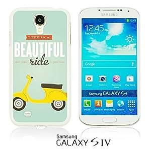 OnlineBestDigital - Typography Pattern Hard Back Case for Samsung Galaxy S4 IV I9500 / I9505 - Beautiful Ride