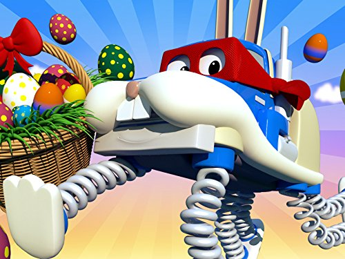 : Easter day : The easter bunny/The solar truck/The construction truck/The super tow truck