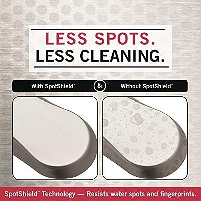 Satin SpotShield Brushed Nickel Delta Faucet 136670 Meridian Towel Ring